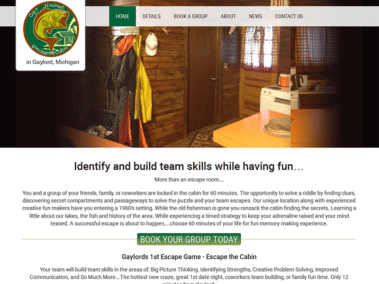 Escape the Cabin Launches Website and Online Booking